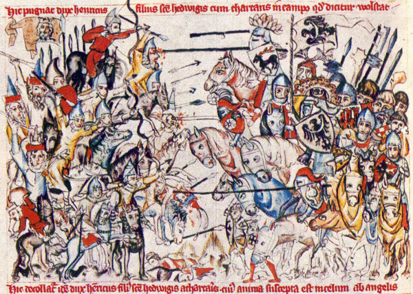 Иллюстрация. Название: «Battle of Legnica (legnitz) 1241. From Legend of Saint Hedwig». Автор: не указан. Источник: http://inosmip.ru/news/12551-orda-regulyarnoe-voysko-rusi.html