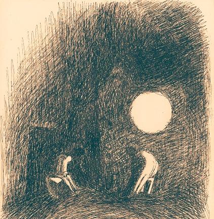 Иллюстрация. Название: «Две дохлые собаки». Автор: Саша Николаенко. Источник: http://newlit.ru/