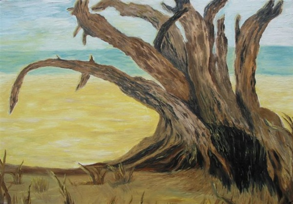 Trees die costing{standing},  2007  Oil on canvas, 50 х 70 cm