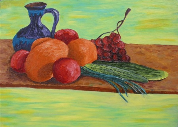 Still-life with a jug fault,  2007  Oil on canvas, 50х70 cm
